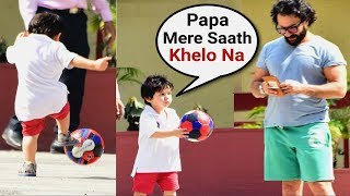 Taimur Ali Khan Wants To Play Football With Dad Saif Ali Khan