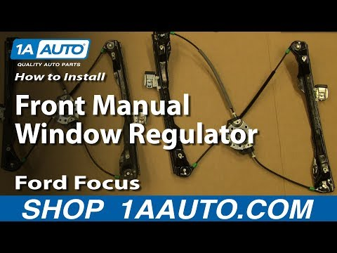 How To Install Replace Front Manual Window Regulator 2002-07 Ford Focus