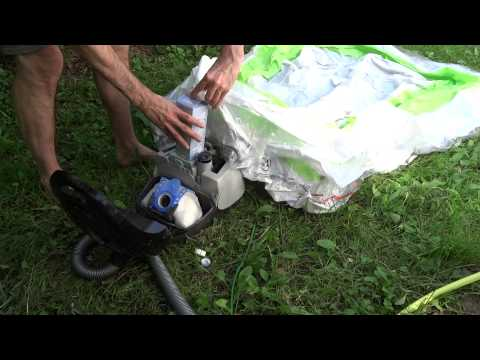Quick Swimming Pool Inflate Hack using Vacuum Cleaner and Milk Carton