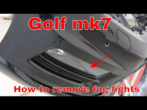 How to remove fog lights Golf 7