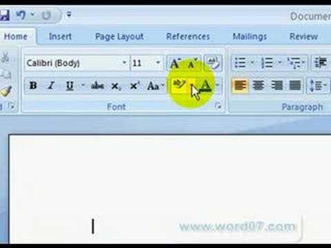 Microsoft Word 2007 - The Ribbon