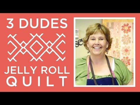 Amazing Jelly Roll Quilt Pattern by 3 Dudes!