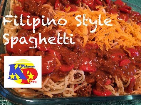 Filipino Style Spaghetti - Parang sa Jollibee :)