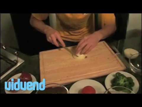 Preparing Onions, Mangoes, Mushrooms