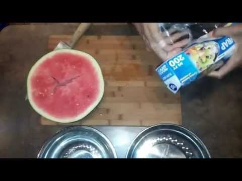 Cut & Store A Watermelon Without Poisoning It With Plastic...