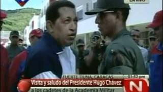 07JUL2011Saludo del Pdte Hugo Chávez a cadetes de la Academia Militar