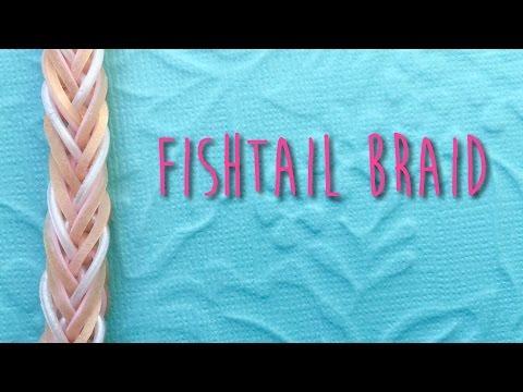 Rainbow loom bands Fishtail Braid