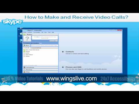 How to make and receive video call In Skype | Wingslive | Skype Video Tutorial