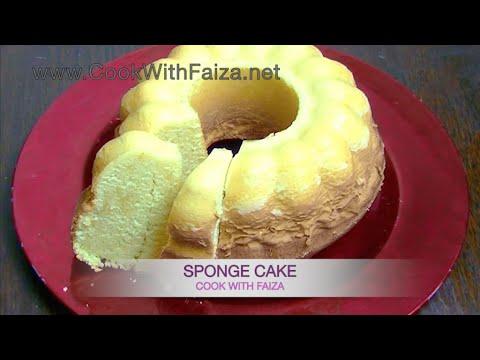 SPONGE CAKE *COOK WITH FAIZA*