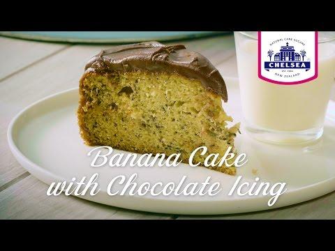 Chelsea Sugar Banana Cake with Chocolate Icing