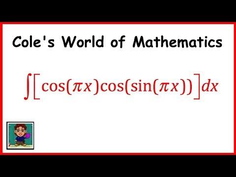 Integral of cos(πx)cos(sin πx) ❖ Calculus 1 ❖ Trig Integrals