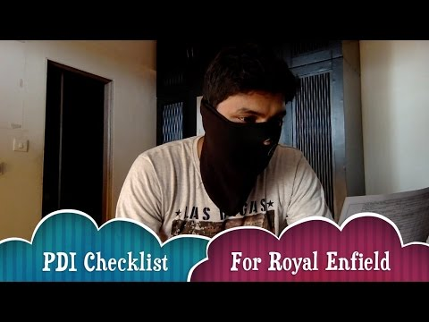 Pre Purchase Inspection Checklist Royal Enfield(PDI Sheet) | Know before taking delivery