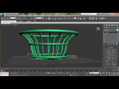 3ds Max Modeling Tutorial: How to Model Fruit Bucket using Line Tool