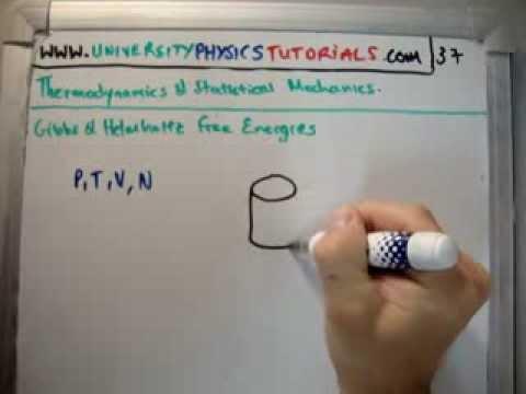 Thermodynamics 37 : Gibbs Helmholtz Free Energies
