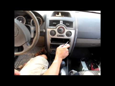 Changing bulb in main console Renault Megane ll