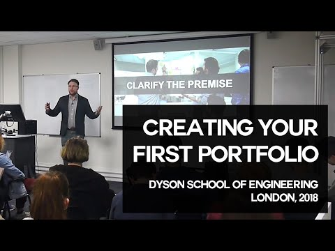 Creating Your First Design Portfolio + Q&A | Nick Chubb | Dyson School of Design Engineering 2018