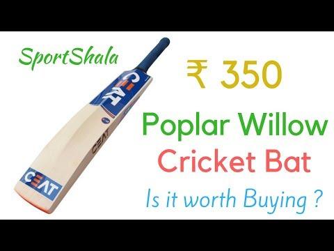 CHEAP CRICKET BAT | Poplar Willow for ₹350 | BUY or NOT | SportShala -Hindi