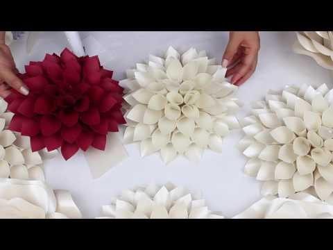 DIY Paper Dahlia Tutorial - My Wedding Backdrop Flowers