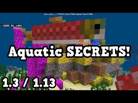 Minecraft Xbox / PE - Update Aquatic SECRETS - 1.3