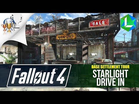 Fallout 4 Guide - Lets build Starlight Drive In | Settlement Build Tutorial | Part 4