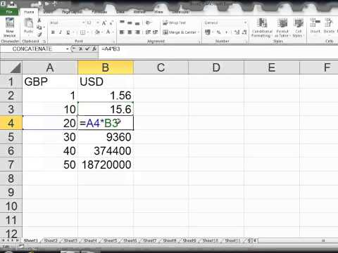 Currency Exchange Rates Excel 2010