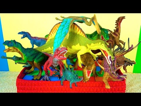 Learn about Dinosaurs - DINOSAUR Toy Box - What's in the Box?