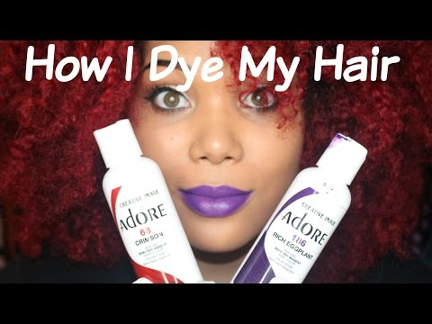 How I Dye My Natural Hair Red!