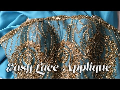 J Stern Designs l  Prom Gown Sew Along:  Easy Lace Applique