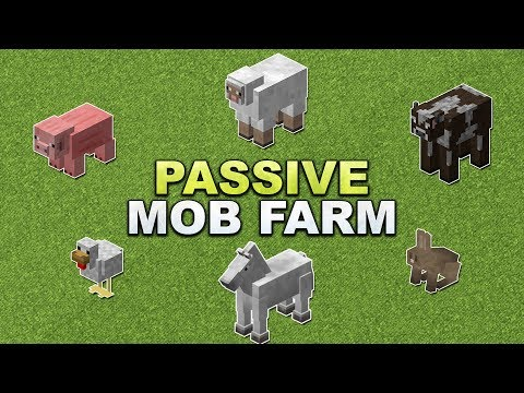 Minecraft - Passive (Peaceful) Mob Farm // Tier Farm - Tutorial 1.12