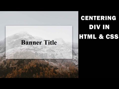 How to center a div with html and css | Tutorial for Beginners