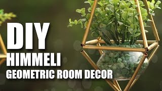 How to make DIY Himmeli Plant Holders