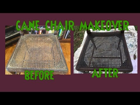 Cane Chair Makeover- Make Old Cane/Wicker Look New Again!
