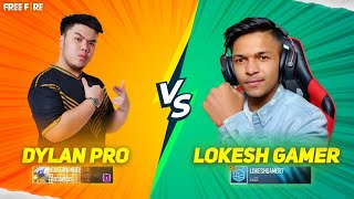 LOKESH GAMER VS DYLAND PROS 1V1 CUSTOM FINAL MATCH