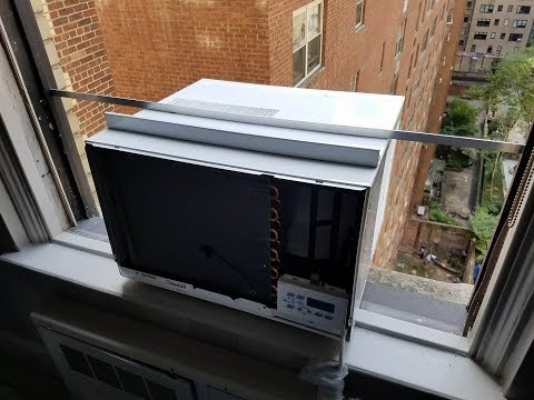 The right way to install a window AC.