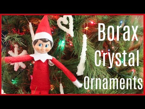 Elf on the Shelf makes DIY Borax Crystal Ornaments! Elf on the Shelf caught moving 2017