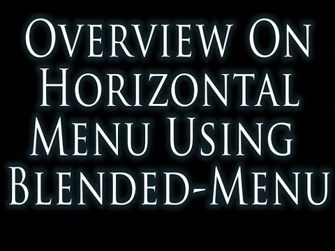 Overview Tutorial how to Build HTML and CSS Horizontal Menu