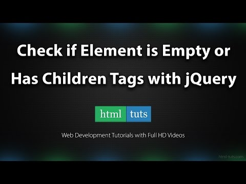 Check if HTML Element is Empty or has Children Tags