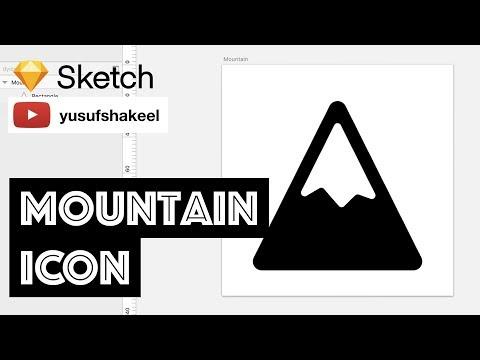 MOUNTAIN icon - Sketch - dyIcons - E04 - Yusuf Shakeel