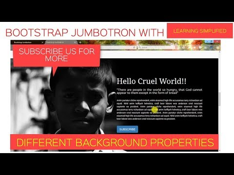 How to set Image in Jumbotron using Bootstrap and CSS