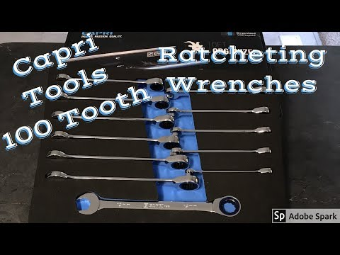 New Capri Tools 100 Tooth Ratcheting Wrench Set!