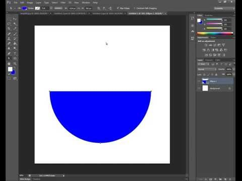 How To Creat Half Circle In Photoshop