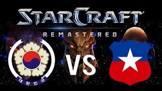 COREA vs CHILE en Starcraft Remastered !