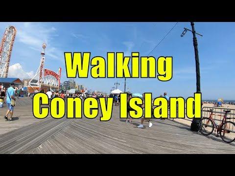 ⁴ᴷ Walking Tour of Coney Island Beach & Boardwalk, Brooklyn, NYC (Memorial Day Weekend)