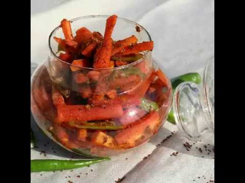 How to make Carrot Pickle recipe video