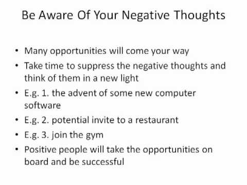 Positive Thinking -The 3 Secrets To Show You How