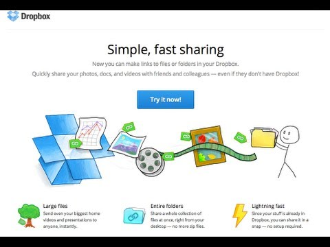 Dropbox Links and sharing information