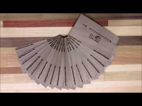 Laser engraved business cards