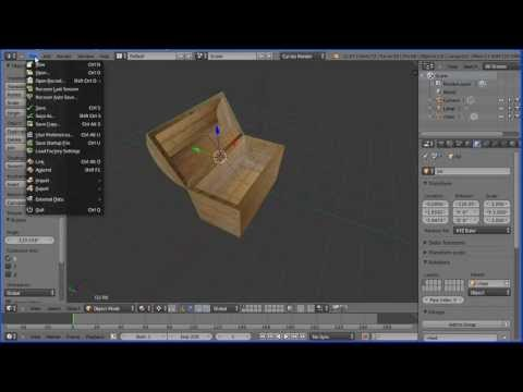 Blender Tutorial Making a Wooden Chest and Quickly and Easily Mapping a Wood Texture Image to it