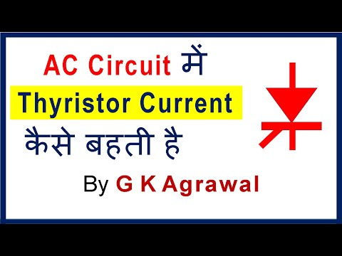 Thyristor in Hindi - current for inductor & resistor load