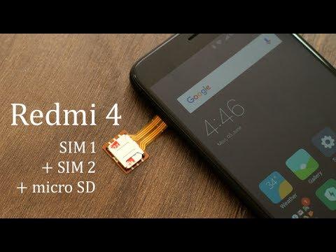 Redmi 4 पर 2 SIM और Micro SD एक साथ with Hybrid SIM Slot Adapter (Hindi)